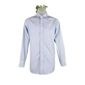 Michael Kors Button Up Dress Shirt Blue Stripe